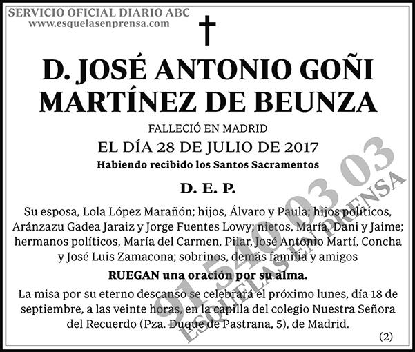 José Antonio Goñi Martínez de Beunza